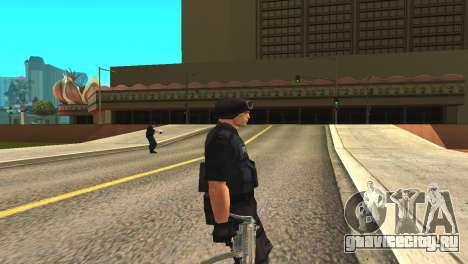 Оригинальный скин SWAT без маски для GTA San Andreas второй скриншот