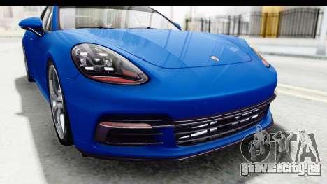 Porsche Panamera 4S 2017 v1 для GTA San Andreas вид изнутри
