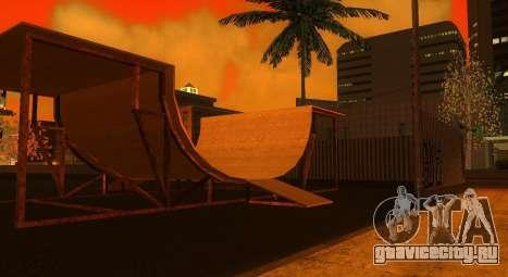 Новые текстуры скейт-парка и госпиталя для GTA San Andreas второй скриншот