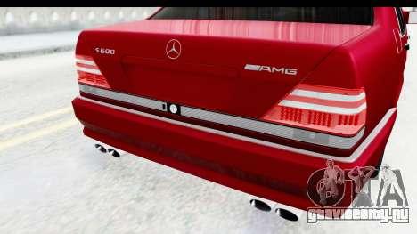 Mercedes-Benz W140 S600 AMG для GTA San Andreas вид сбоку
