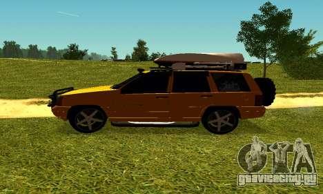Jeep Grand Cherokee для GTA San Andreas вид сзади