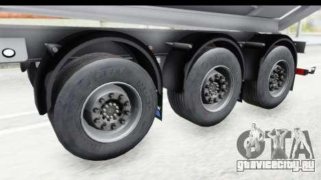 Trailer Volvo Dumper для GTA San Andreas вид сзади