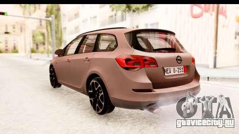 Opel Astra J Tourer для GTA San Andreas вид сзади слева