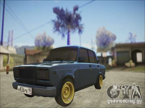 VAZ 2107 Black Jack для GTA San Andreas вид слева