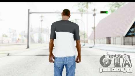 Adidas Black White T-Shirt для GTA San Andreas третий скриншот