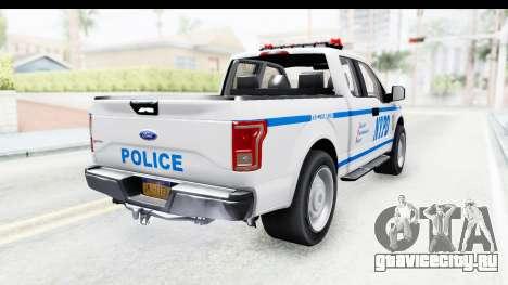 Ford F-150 Police New York для GTA San Andreas вид сзади слева