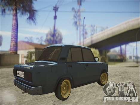 VAZ 2107 Black Jack для GTA San Andreas вид сзади
