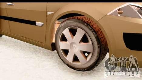 Renault Megane 2 Sedan 2003 для GTA San Andreas вид сзади