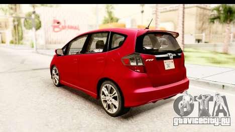 Honda Fit Sport 2009 для GTA San Andreas вид сзади слева