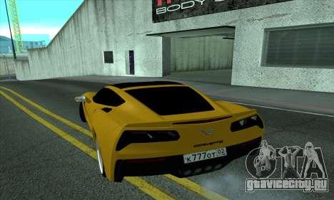 Chevrolet Corvette для GTA San Andreas вид сзади слева