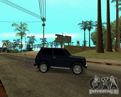 Niva 2121 Armenian для GTA San Andreas вид сверху