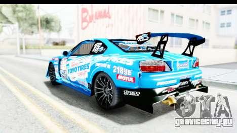 Nissan Silvia S15 D1GP Blue Toyo Tires для GTA San Andreas вид слева