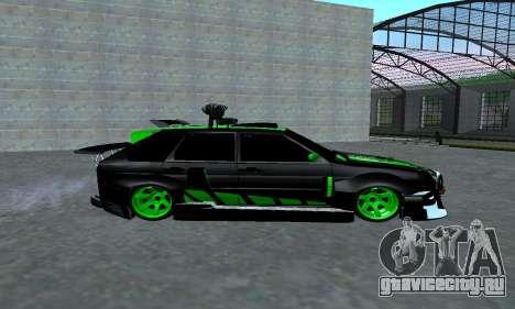 VAZ 2114 DTM для GTA San Andreas вид сзади слева