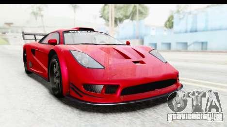 GTA 5 Progen Tyrus для GTA San Andreas вид справа