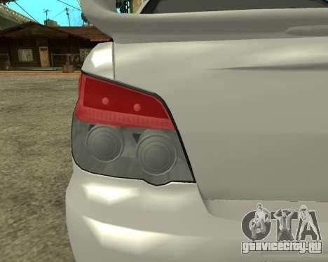 Subaru Impreza Armenian для GTA San Andreas вид изнутри
