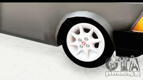 Volkswagen Golf для GTA San Andreas вид сзади