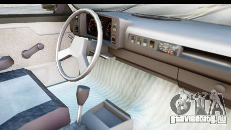 Volkswagen Golf для GTA San Andreas вид изнутри