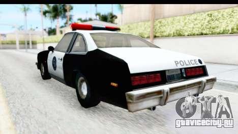 Pontiac Ventura LSPD from Silent Hill 2 для GTA San Andreas вид сзади слева