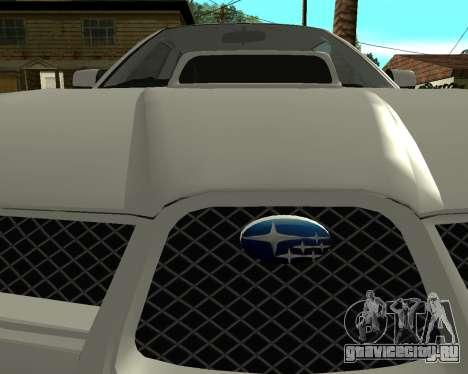 Subaru Impreza Armenian для GTA San Andreas вид справа