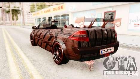 Renault Megane Spyder Full Tuning v2 для GTA San Andreas вид слева