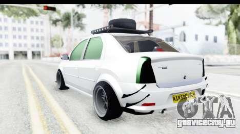Dacia Logan Coil для GTA San Andreas вид слева