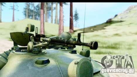 T-62 Wood Camo v3 для GTA San Andreas вид сзади