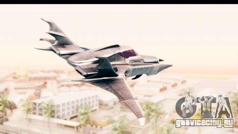 Batman Arkham Asylum - Batwing для GTA San Andreas вид слева
