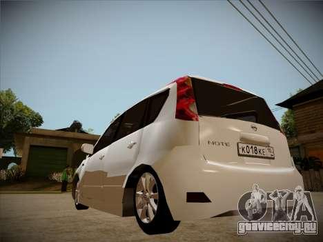 Nissan Note 2008 для GTA San Andreas вид сбоку