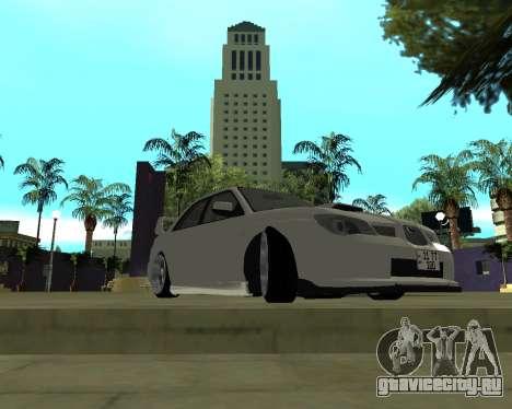 Subaru Impreza Armenian для GTA San Andreas вид слева