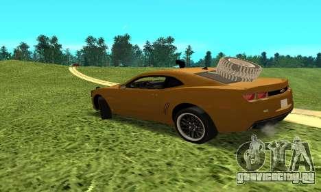 Chevrolet Camaro 2010 для GTA San Andreas вид слева