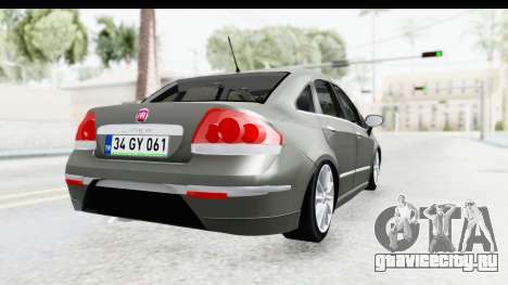 Fiat Linea 2015 v2 Wheels для GTA San Andreas вид сзади слева