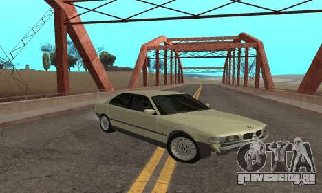 BMW 730 для GTA San Andreas вид сзади слева