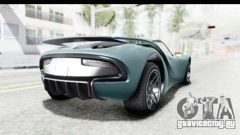 GTA 5 Pfister 811 для GTA San Andreas вид слева