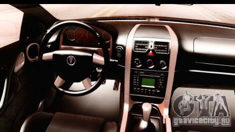 Pontiac GTO 2006 для GTA San Andreas вид изнутри