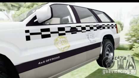 GTA 5 Canis Seminole Taxi Milspec для GTA San Andreas вид сзади