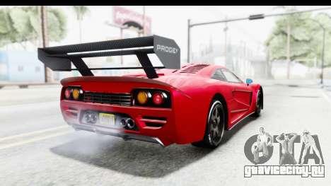 GTA 5 Progen Tyrus для GTA San Andreas вид сзади слева