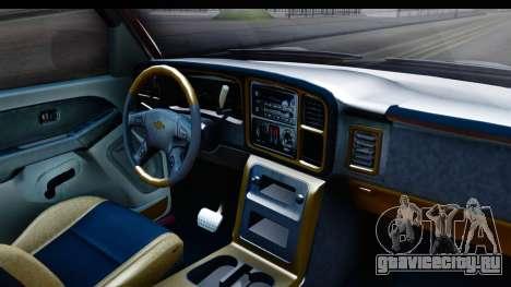 Chevrolet Silverado 2005 Low для GTA San Andreas вид изнутри