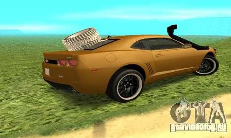 Chevrolet Camaro 2010 для GTA San Andreas вид сзади слева