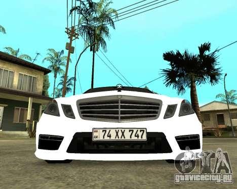 Mercedes-Benz E250 Armenian для GTA San Andreas вид слева