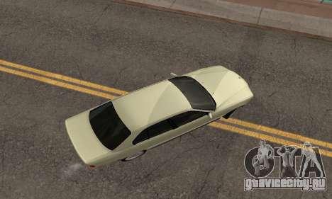 BMW 730 для GTA San Andreas вид изнутри