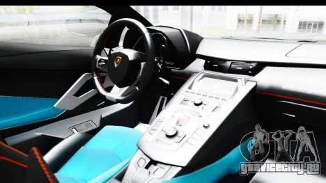 Lamborghini Aventador LP700-4 2012 для GTA San Andreas вид изнутри