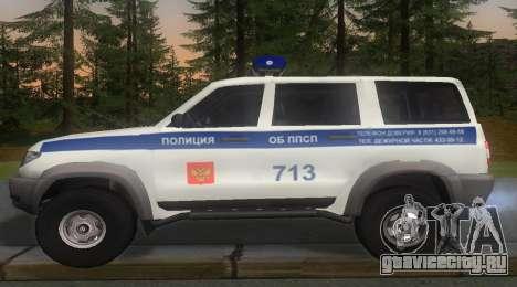УАЗ Patriot Полиция v1 для GTA San Andreas вид слева