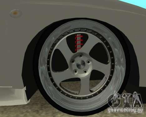 Subaru Impreza Armenian для GTA San Andreas вид сзади