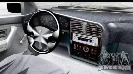 Renault 19 RE для GTA San Andreas вид изнутри