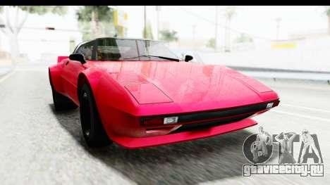 GTA 5 Lampadati Tropos IVF для GTA San Andreas вид сзади слева