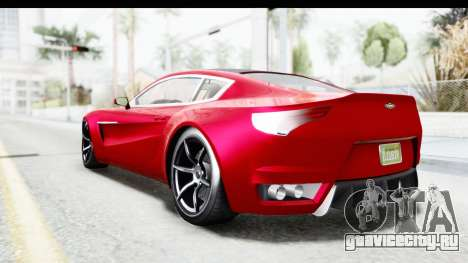 GTA 5 Dewbauchee Seven 70 IVF для GTA San Andreas вид слева
