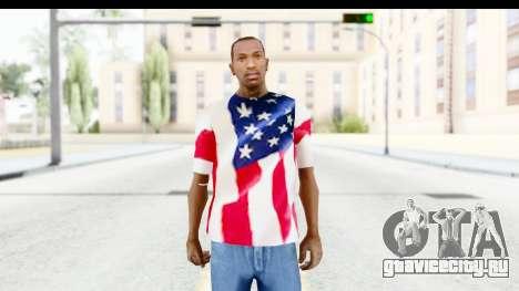 T-Shirt USA Flag для GTA San Andreas второй скриншот