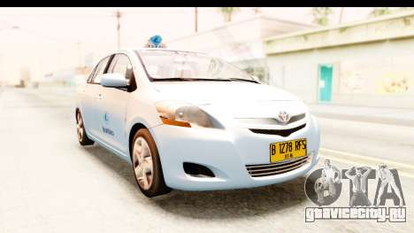 Toyota Vios 2008 Taxi Blue Bird для GTA San Andreas вид справа