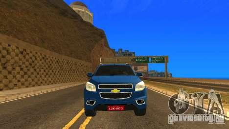 Chevrolet TrailBlazer 2015 LTZ для GTA San Andreas вид изнутри