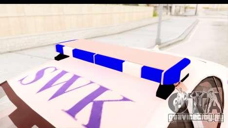 Lexus IS F PDRM для GTA San Andreas вид изнутри